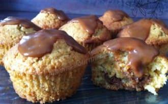 Muffins vanille à la confiture de lait noisette