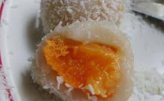 Perles de coco aux abricots