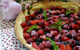 Tarte sablée au mascarpone et fruits rouges