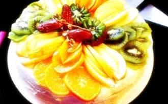 Gâteau Génoise aux fruits frais