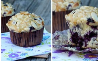 Muffins myrtilles et amandes