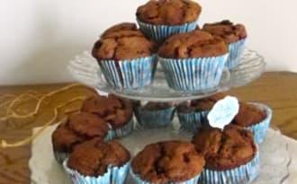 Muffins sans beurre au chocolat et groseilles