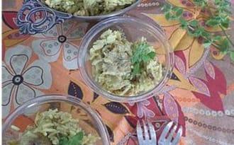 Wok de dinde curry, coco et banane
