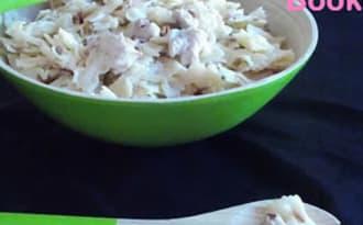 Salade de farfalle aux poulet et aux noix de pécan