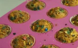 Muffins M&M's – Cœur de Nutella