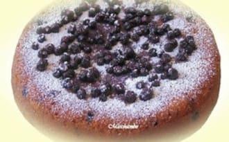 Gâteau léger amandes-myrtilles