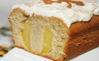Cake aux pommes, fleur d'oranger et cannelle