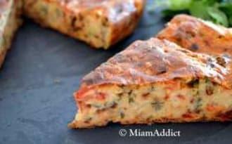 Cake Fondant Courgette Tomates et Chèvre