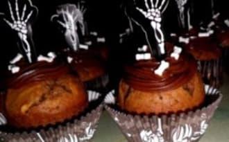 Cupcakes d'Halloween au chocolat
