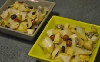 Salade d'endives automnale et vinaigrette crémeuse à l'huile de noisette