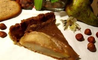 Tarte rustique à la crème de marron et aux poires