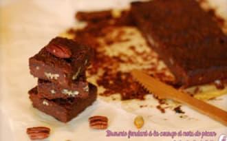 Brownie à la courge et noix de pécan