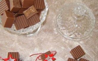 Le bonbon au chocolat au lait praliné