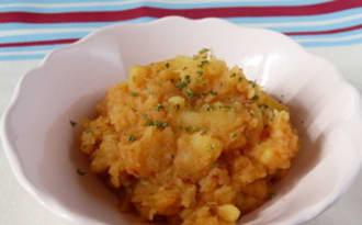 Purée de Pâtisson et pommes de terre