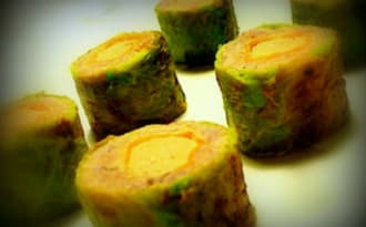 Bouchée au foie gras et confit, chou et 5-épices