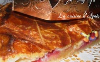 Galette à la crème d'amande pomme framboises