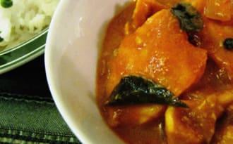Curry de saumon à la tomate