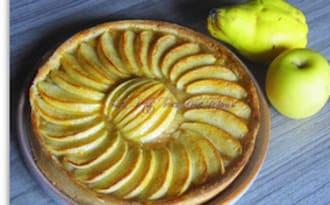 Tarte pommes-coing