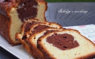 Cake marbré chocolat noir & blanc