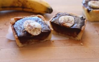 Petites tartes chocolat-banane