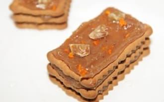 Mille-feuilles de petits beurre à la crème de marrons