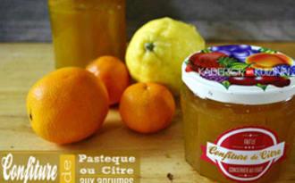 Confiture de citre ou de pastèque blanche aux agrumes