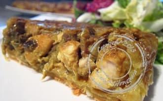Tarte tatin de poulet et curry à l'indienne