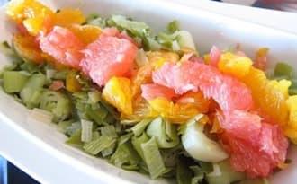 Salade de poireaux aux agrumes