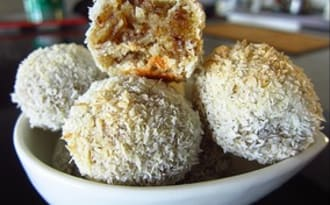 Bouchées coco et noisettes