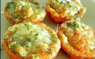 Tomates gratinées à la mozzarella
