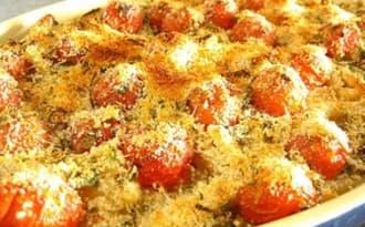 Gratin de macaroni au parmesan