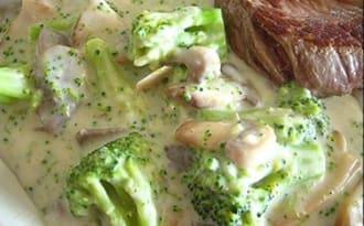 Brocolis et champignons à la crème