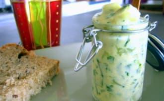 Concombres au fromage blanc et à la coriandre