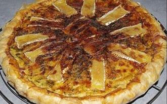 Tarte aux lardons, cancoillotte et camembert