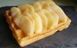 Gaufres aux pommes caramélisées