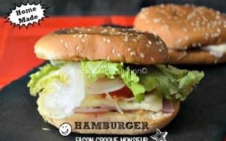 Hamburger façon croque monsieur à la plancha