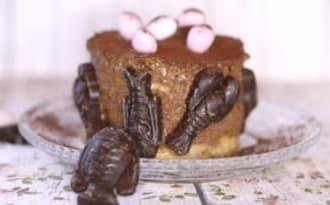 Biscuit café et duo de mousses chocolat vanille