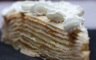 Gâteau de crêpes au lemon curd