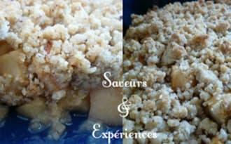 Crumble de Pommes aux Graines de Sésame, Noisette et Vanille