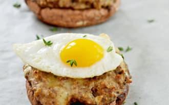 Portobello Farcis aux Champignons et Fromage