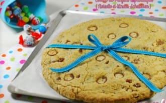 Cookie géant: Noisette et Kinder Schokobon