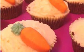 Carrot cupcakes de Pâques