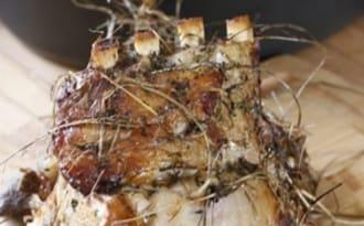 Carré de veau au foin