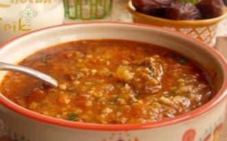 Chorba frik, Soupe au blé vert concassé