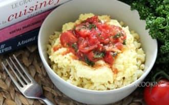 Coquillette oeuf brouillé et sauce tomate