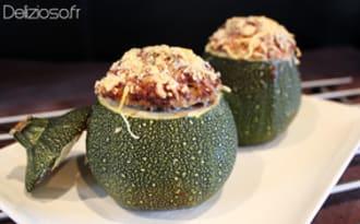 Courgettes farcies au boeuf et quinoa