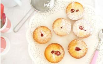 Petits gâteaux coco fraises