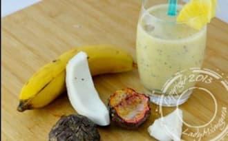 Smoothie Presidente – smoothie à la banane noix de coco et fruits de la passion