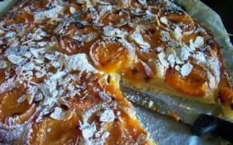 Tarte amandine vanillée aux abricots
