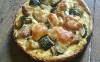 Tarte au Saumon Fumé Courgettes et fromage de Chèvre...Un peu Moche mais pas Dégueu...